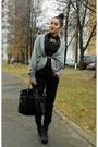Leather-bag-new-yorker-cardigan-zara-pants-zara-blouse