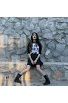 leather Agaci dress - cotton workshop shirt