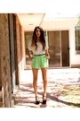 Lime-green-cotton-forever-21-shorts