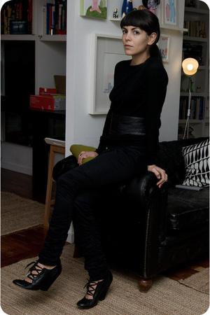 Irregular Choice shoes - martin margiela belt - H&M pants