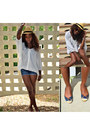 Hat-lamb-shirt-guess-shorts-michael-michael-kors-flats