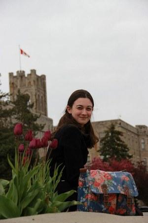 floral satchel Cath Kidston bag - Wareho coat