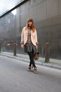 Pink-cos-blazer-mulberry-bag-leather-marni-sandals-knitted-zara-romper