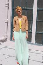 bronze cropped H&M jacket - carrot orange Jessica Simpson shoes
