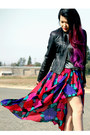 Red-rose-vintage-skirt-black-asos-boots-black-forever-21-jacket