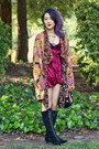 Bdg-boots-velvet-forever21-dress-vintage-jacket-vintage-bag