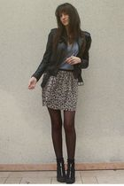 black Zara jacket - black H&M shoes - gray American Apparel t-shirt