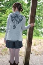 UO sweater - f21 shirt - f21 shorts - simply vera wang leggings - Aldo boots - M