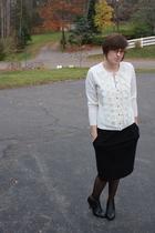 ny & co sweater - f21 skirt - ny & co tights - apt 9 boots - f21 earrings