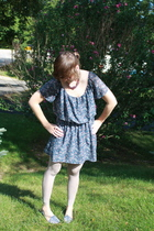 Charlotte Rouse dress - simply vera wang leggings - OU shoes - kohls necklace -