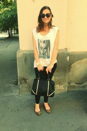 Zara shoes - Stradivarius leggings - Zara bag - Mango sunglasses