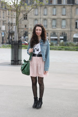 H&amp;M bag - H&amp;M t-shirt - H&amp;M belt - homemade skirt