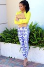 Blue-romwe-leggings-yellow-portofino-shirt-express-shirt