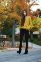 yellow Lamb and Flag sweater