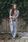 Heather-gray-garage-sale-j-brand-jeans-tan-lace-up-suede-dolce-vita-loafers-