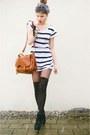 Striped-shirt-satchel-bag-overknee-socks