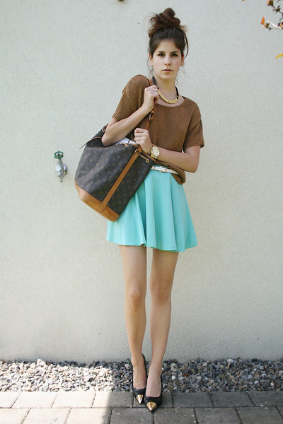 canvas bag - aquamarine skirt