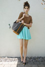 Canvas-bag-aquamarine-skirt