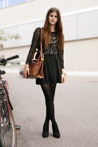 black sequin Zara dress
