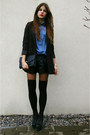 Black-leather-shorts-black-bow-tie