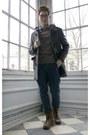 Heather-gray-ohanlon-mills-sweater-gusto-coat-topman-pants