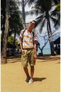 Orange-striped-top-dark-khaki-trimmed-nike-shorts-beige-converse-sneakers