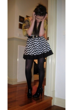 Lumier blouse - Miss Shop skirt - tights - Sportsgirl shoes