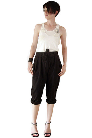 Clu top - Hanes top - Cheap Monday pants - DKNY shoes - ann demeulemeester acces