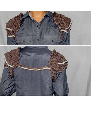 brown Crochet Avantgardist accessories