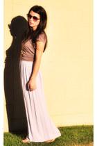 long skirt cut loose skirt - Stem t-shirt