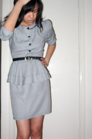blue vint belt - vint dress