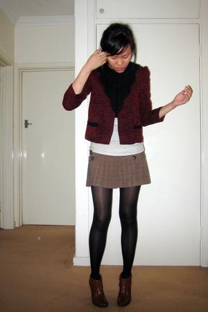 vintage jacket - Guess skirt - shoes