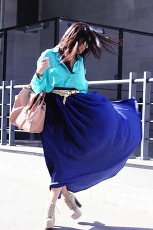 American Apparel shirt - Zara bag - American Apparel skirt - Jeffrey Campbell he