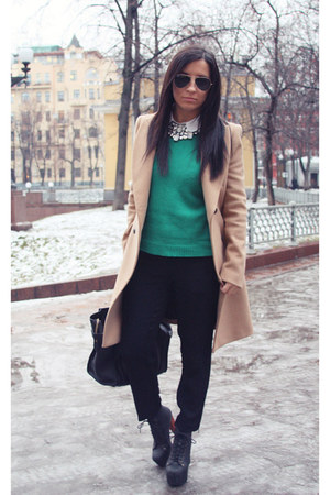 Zara coat - Jeffrey Campbell boots - Celine bag - Zara pants