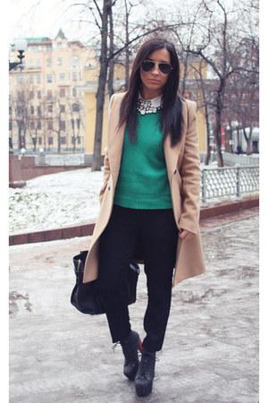 Zara coat - Jeffrey Campbell boots - Celine bag - Zara pants