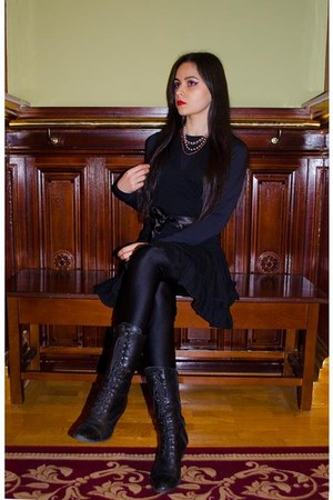 black black leather Le magasin boots