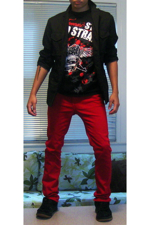 Old Navy blazer - Famous stars and straps t-shirt - CCS jeans - zoo york shoes