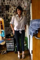 brothers closet blouse - Urban Outfitters jeans - Target shoes