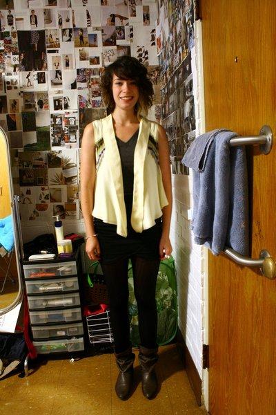 chealsea flower vest - Target t-shirt - Urban Outfitters skirt - Urban Outfitter