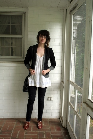 Urban Outfitters top - H&amp;M sweater - Max Studio blazer - Target pants - vintage 