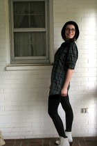 Urban Outfitters hat - Anthropologie shirt - american apperal leggings - Frye sh