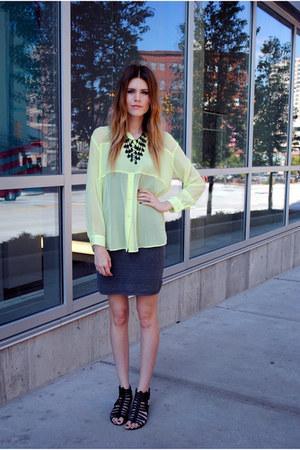 H&M top - American Apparel skirt - Steve Madden wedges