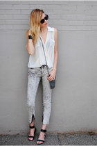 acid wash Mango pants - Steve Madden sandals
