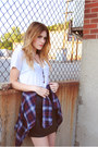 Converse-shoes-flannel-bdg-shirt-leather-forever-21-skirt