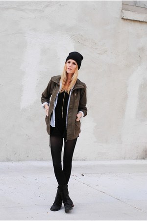 military shop sparrow jacket - Steve Madden boots