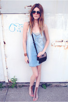 gladiator mia shoes sandals - denim Mango dress