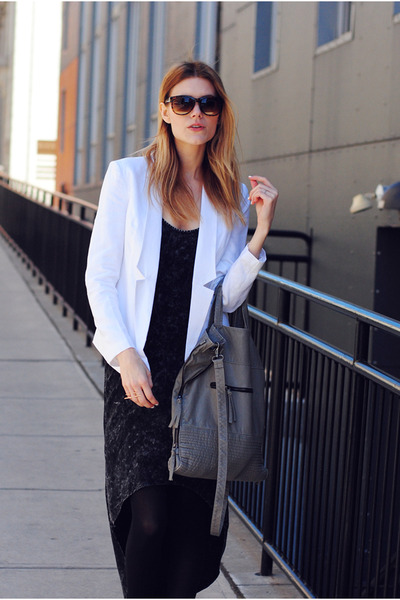 Central Park West blazer - Steve Madden boots - H&M bag