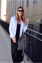 Central Park West blazer - Steve Madden boots - H&M bag