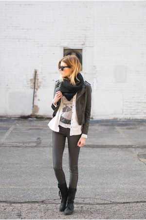 Steve Madden boots - black swan clothing jacket - 2nd One pants