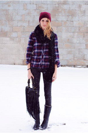 flannel Urban Outfitters top - Tretorn boots - acid wash Zara leggings